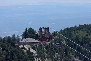 View of the tram at Sandia Crest