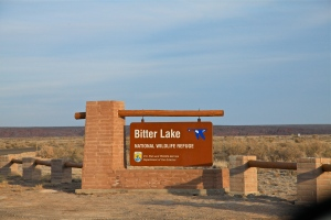 Entrance sign, Bitter Lake National Wildlife Refuge